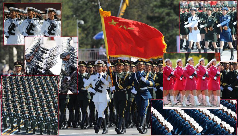 Gran desfile militar: infantería