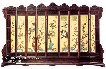 La belleza de los biombos chinos exclusiva - Biombos chinos antiguos ...