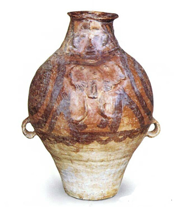 Recipiente-prehistórico-vinos-Tarro -cerámica-pintada -humano