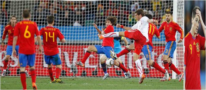 Suiza, vencedora inesperada en el partido contra España