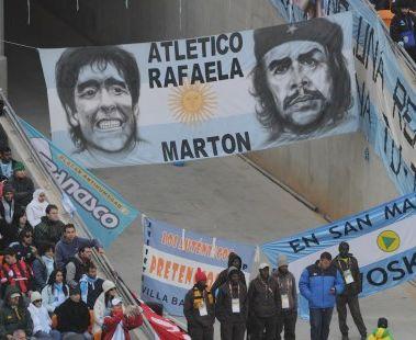 El rollo de papel pintado de Maradona y Che Quevara