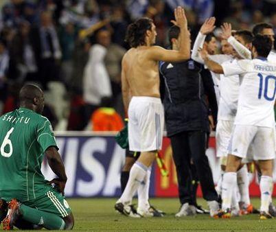 Grecia derrota a Nigeria con 2-1