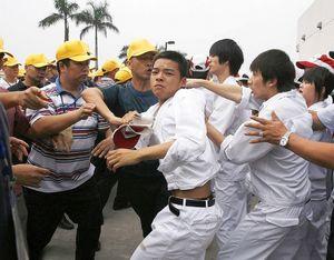 huelgas en china