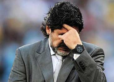 Maradona, despedido de la selección argentina