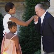 Reyes de España reciben a Michelle Obama y su hija antes de regresar a EEUU