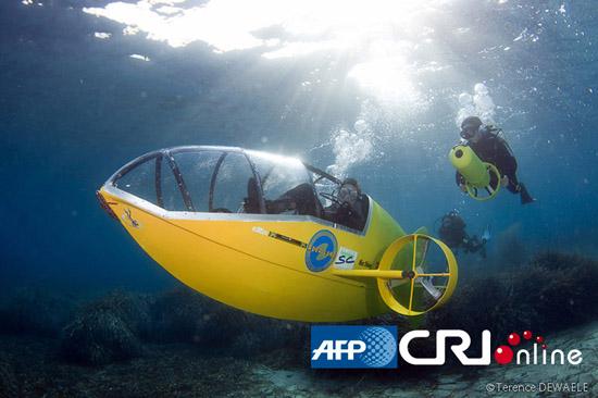 Scubster, el primer submarino a pedales, pasa con éxito su primera prueba