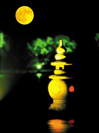 Contemplar la luna Medio Otoño lago Oeste Hangzhou 2