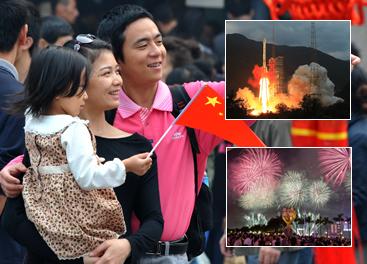 Chinos celebran Día Nacional con orgullo y pasión
