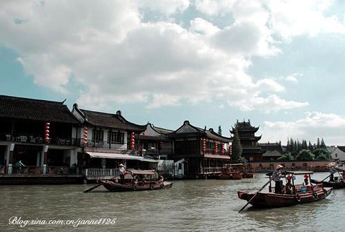 Zhujiajiao pueblo agua Shanghai 3