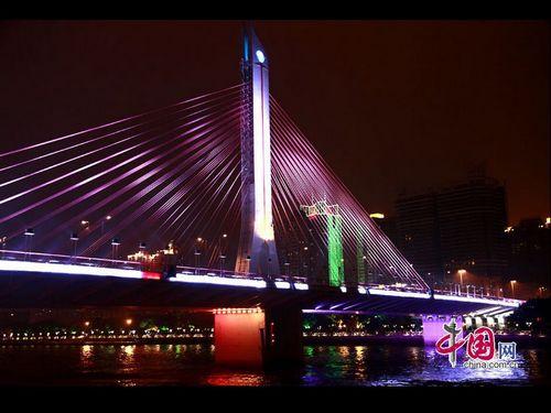 La noche maravillosa de Guangzhou para recibir los Juegos Asiáticos