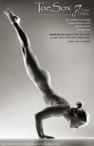 Yoga desnuda,Profesora guapa ,Kathryn Budig,Toesox