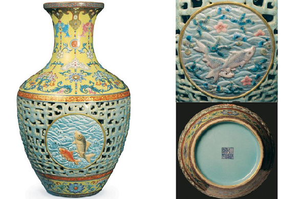 Jarrón chino Quianlong 69 millones de dolares Chinese vase Quianlong 69 million dollars