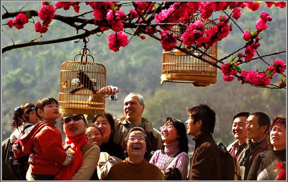 La vida de los residentes locales de Hangzhou