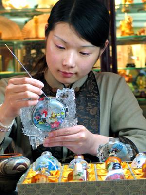 botella rapé artesanía tradicional chino 1