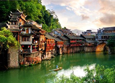 La sabiduría de la etnia Dai: Las casas de bambú