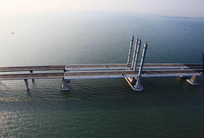 infraestructura, puente, más largo del mundo, China, Qingdao, Tsingtao