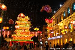 Iluminan linternas en Macao con motivo del Festival de Medio Otoño