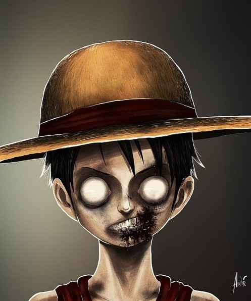 Figuras famosas de caricatura en zombies