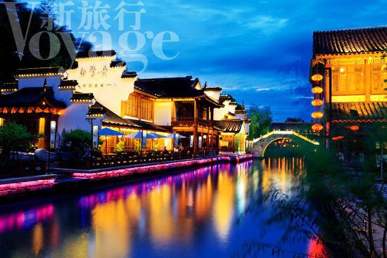 Nanjing, bañado por las brumas sobre el río Qinhuai