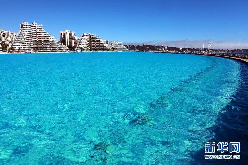 La piscina m s grande del mundo en chile tan grande como for Piscina mas grande del mundo chile