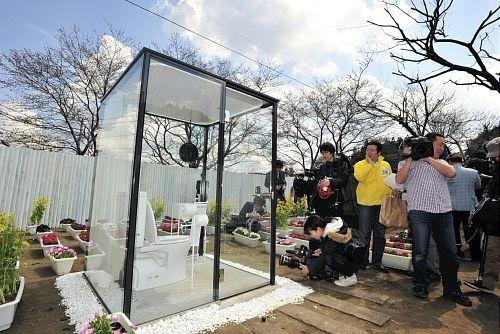 Japón construye un baño público transparente para mujeres