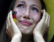 Aficionadas lloran por la selección alemana