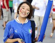 Los hinchas calientes chinos en Eurocopa