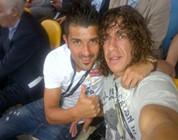 Villa y Puyol, los primeros fans de España
