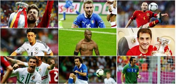UEFA selecciona a los mejores jugadores de Eurocopa
