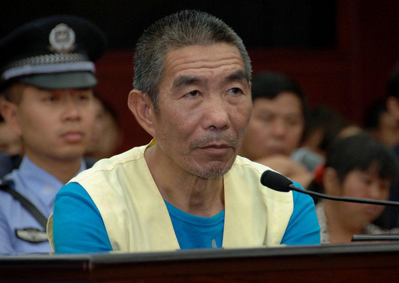 Sentencian a un asesino en serie a pena de muerte en China