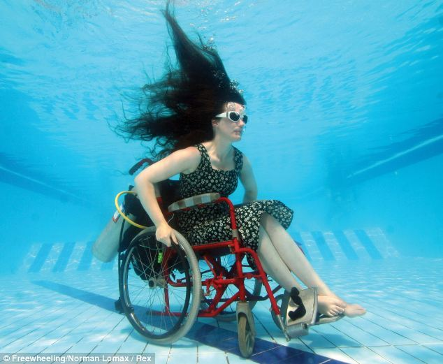 silla de ruedas acuatica
