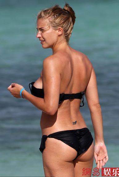 Gemma Atkinson, ex novia de C.Ronaldo, con su nuevo novio en playa ...