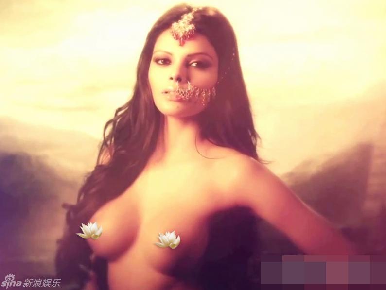 Sherlyn Chopra desnuda, record Guiness para un