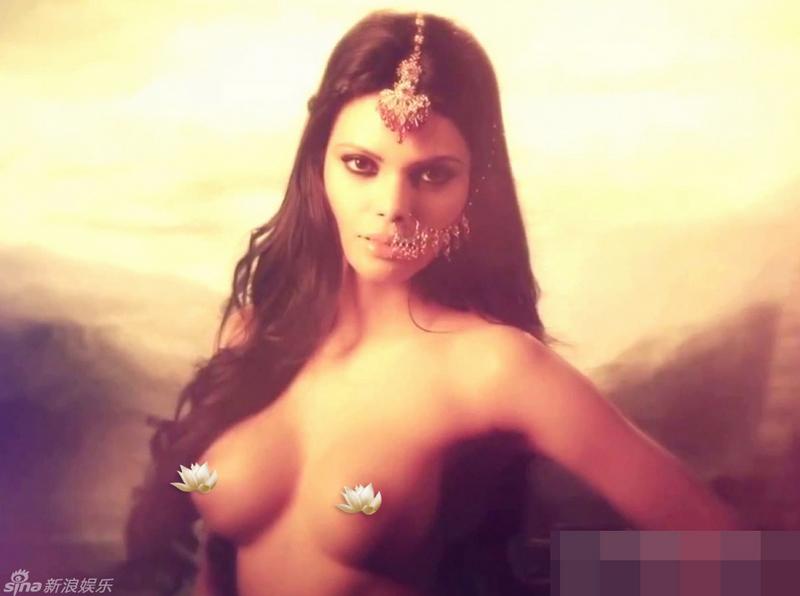 Foto desnuda de actriz india