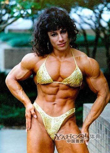 Mujeres fuertes con músculos