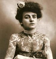 Fotografías antiguas: las primeras fotos de una mujer con tatuajes de la historia