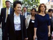 La esposa de presidente chino Peng Liyuan visita Televisiva de México