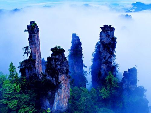 Parque Forestal Nacional de Zhangjiajie China