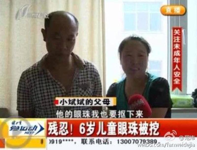 Indignación en China por traficantes que extirparon ojos a niño