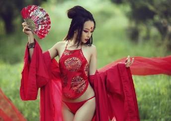Mujer Linda En Dudou Ropa Interior De Estilo Chino