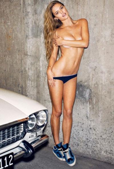 Modelo Danesa Nina Agdal Muestra Su Sensualidad Nórdica Posando