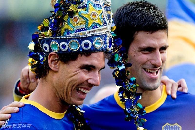 Nadal y Djokovic lanzaron penaltis en el estadio 'La Bombonera' de Boca Juniors 2