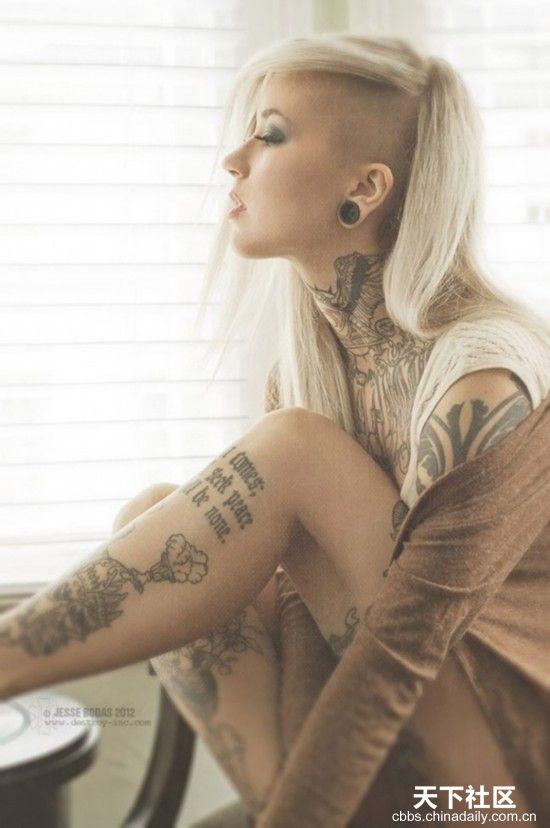 Las Hermosas Mujeres Con Sus Tatuajes Spanish China Org Cn