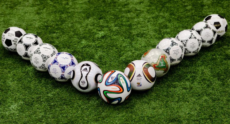 Los balones oficiales de la Copa Mundial