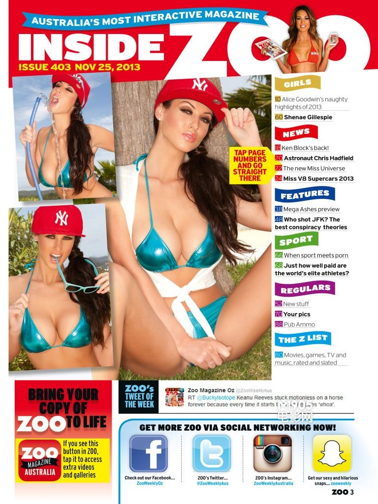 La sexy modelo inglesa Alice Goodwin posa en bikini para ZOO_Spanish ...