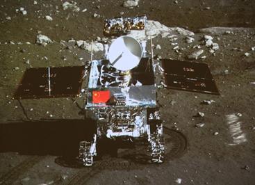 Vehículo y sonda lunares de China se fotografían mutuamente