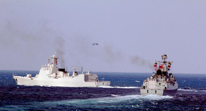 Marina china realiza entrenamientos en el océano Índico y el Pacífico