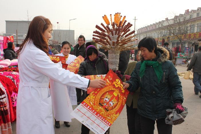 Estampas de Año Nuevo con tema de salud están populares en Yiyuan