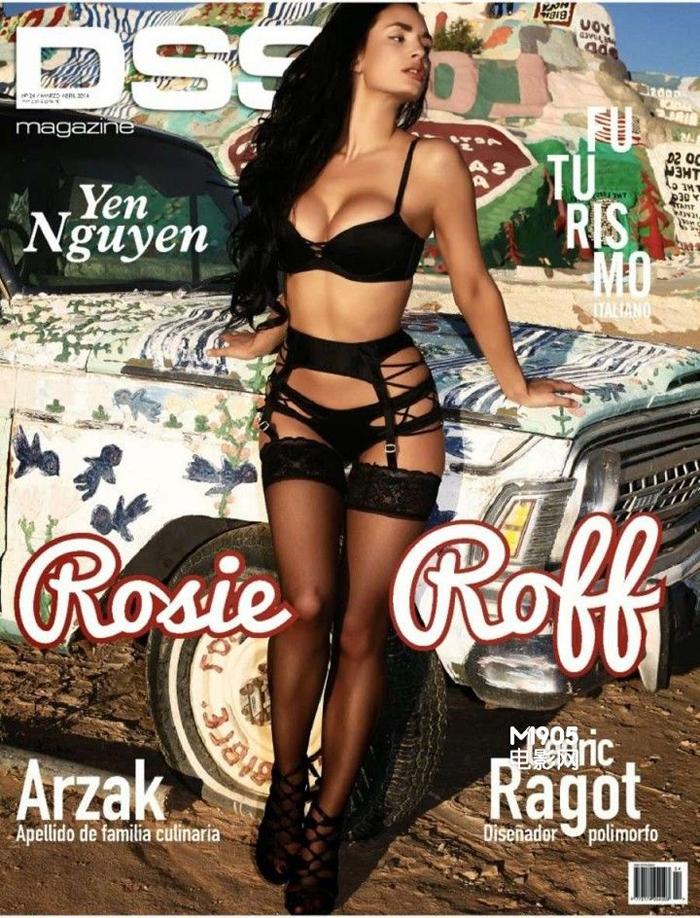 La Supermodel Rosie Roff Se Pone Cariñosa Para La Lente Con Lencería