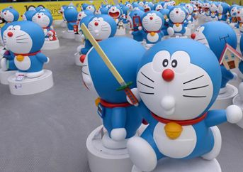 Expo de 100 Doraemon en Joy City Chaoyang, Beijing